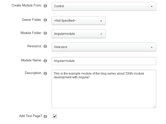 Registering the module in DNN